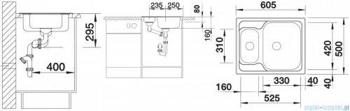 Blanco Tipo 6 Basici zlewozmywak  stal szlachetna szczotkowana  bez k. aut. 514813