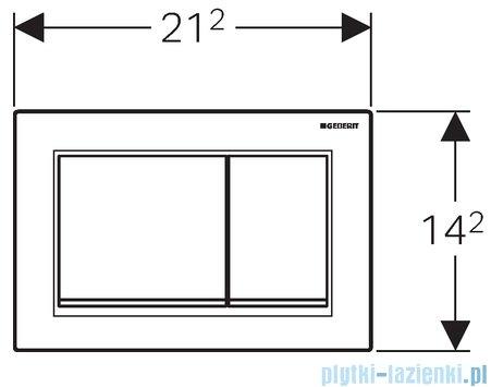 Geberit Omega30 Przycisk uruchamiający przedni/górny biały/złoty/biały 115.080.KK.1