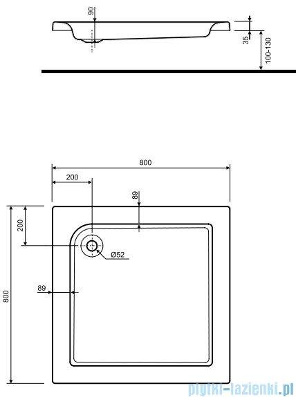 Koło Standard Plus Brodzik 80cm kwadratowy XBK1580000