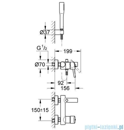 Grohe Concetto jednouchwytowa bateria wannowa  32212 001