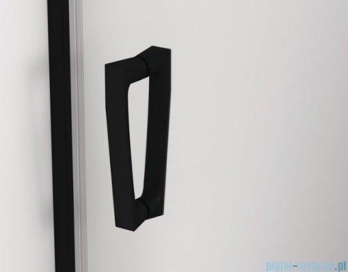 SanSwiss Cadura Black Line drzwi przesuwne 160cm jednoskrzydłowe prawe z polem stałym profile czarny mat CAS2D1600607