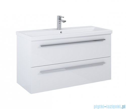 Elita Kwadro Plus szafka z umywalką 1000x53x40cm biały połysk 166714/22052009N