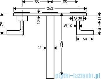 Hansgrohe Axor Citterio 3-otworowa bateria umywalkowa ścienna podtynkowa 39148000