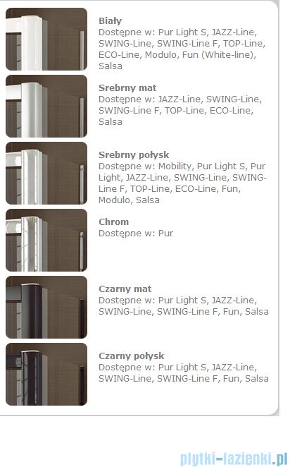 SanSwiss Swing Line F SLF2 Wejście narożne z drzwiami 70-120cm profil biały Lewe SLF2GSM10407