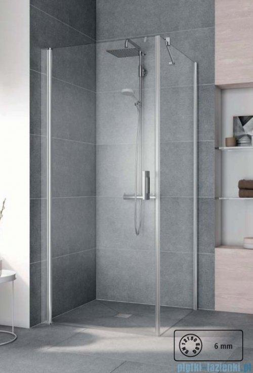 Kermi Pega Ściana boczna, szkło przezroczyste, profile srebrne 75x200cm PETWO07520VPK