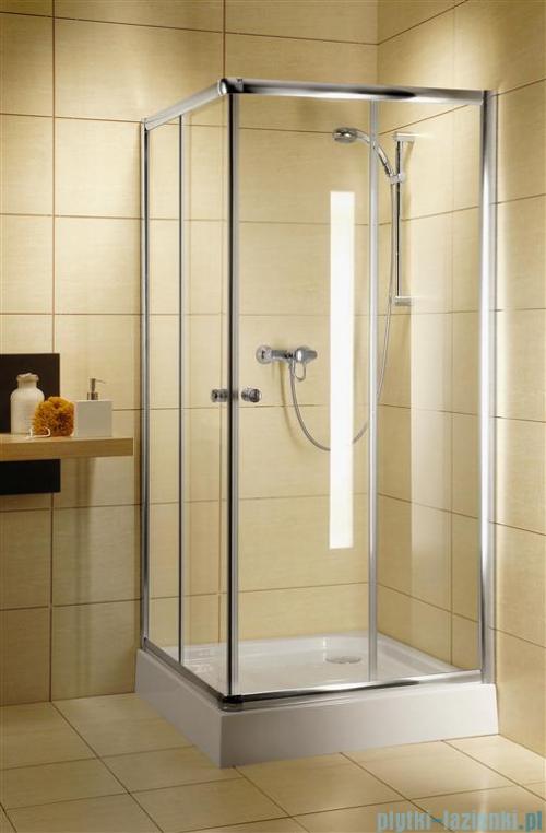 Radaway Classic C Kabina prysznicowa kwadratowa z drzwiami przesuwnymi 90x90 szkło przejrzyste profile białe