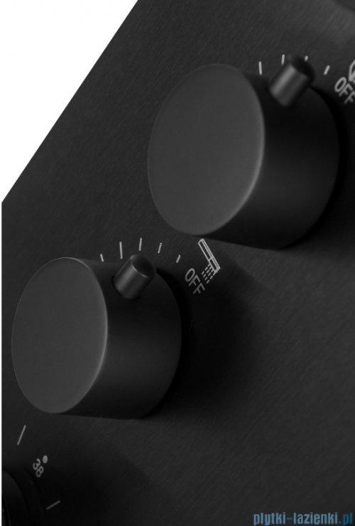 Corsan Samsara panel natryskowy z termostatem stalowy czarny S-003TSC