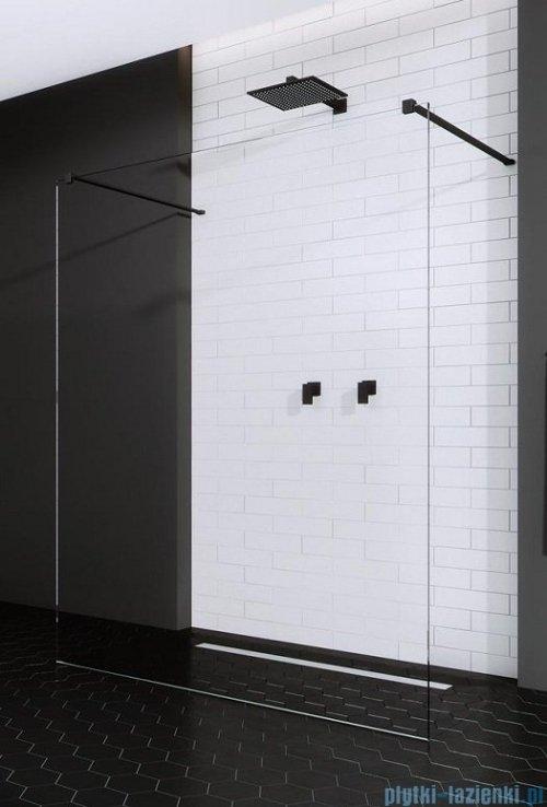 Radaway Modo X Black I kabina Walk-in 130x200 szkło przejrzyste 10mm 388334-54-01