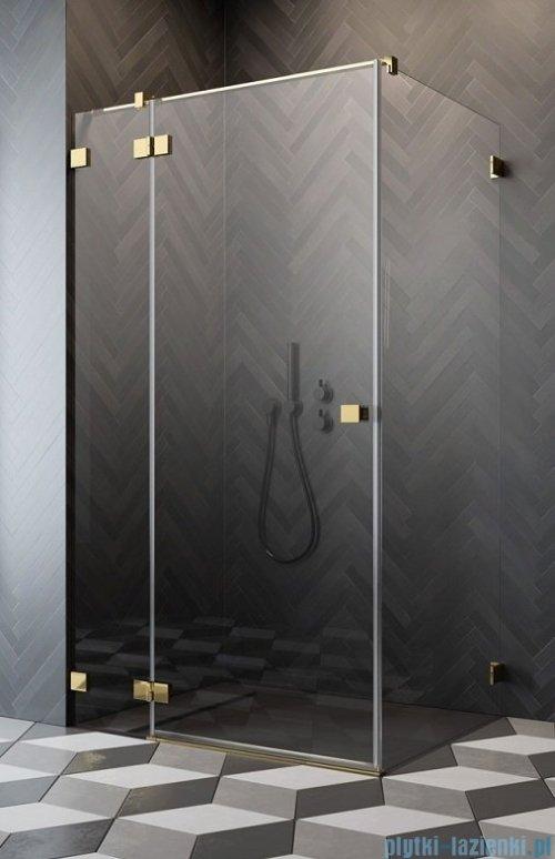 Radaway Essenza Pro Gold Kdj kabina 120x110cm lewa przejrzyste 10097120-09-01L/10098110-01-01