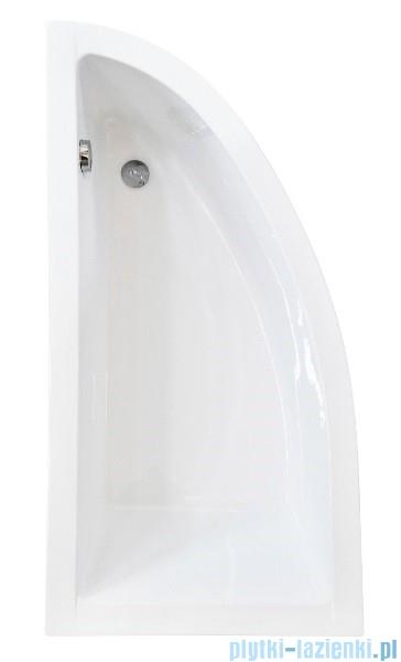 Besco Praktika 140x70cm wanna asymetryczna lewa + obudowa + syfon #WAP-140-NL/OAP-140-NL/19975
