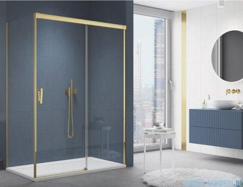 SanSwiss Cadura Gold Line drzwi przesuwne 100cm jednoskrzydłowe prawe z polem stałym CAS2D1001207