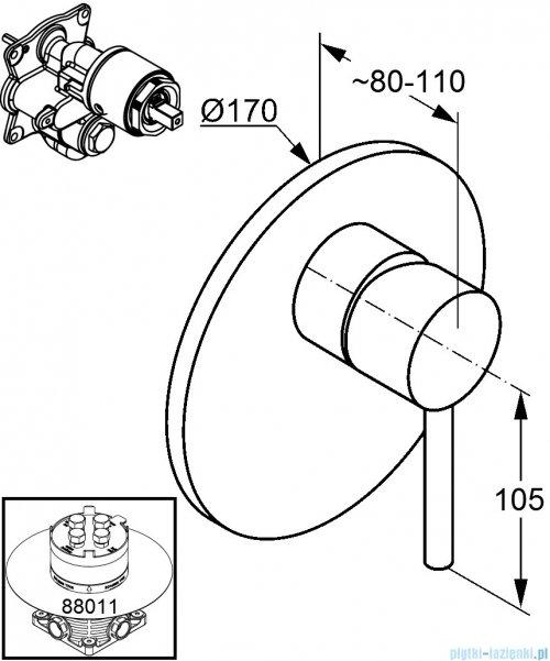 Kludi Bozz Podtynkowa bateria natryskowa chrom 386550576