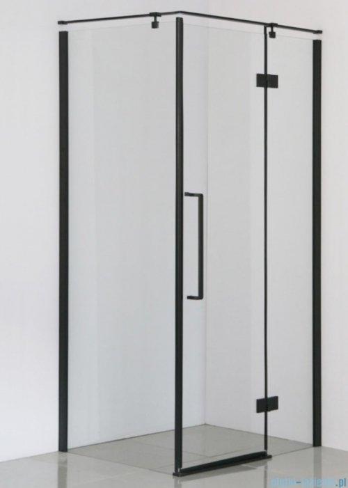 Sea Horse Fresh Line Black kabina prostokątna 100x80 cm prawa przejrzyste BK248T08/10KP