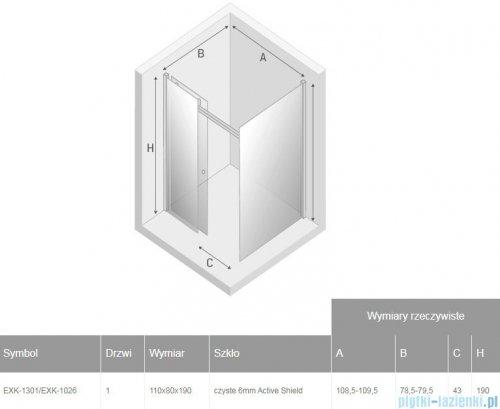 New Trendy Diora kabina prysznicowa 110x80 przejrzyste EXK-1301/EXK-1026