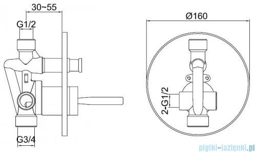 Kohlman Maxima zestaw prysznicowy chrom QW210MR20