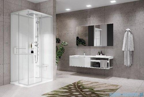 Novellini Glax 2 2.0 kabina masażowo-parowa 100x100 total biała G22A100T5-1UU