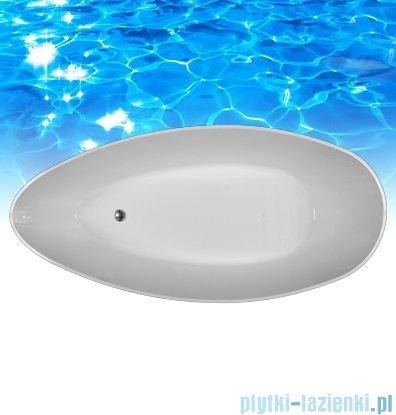 Omnires Barcelona wanna 156x71cm wolnostojąca biało-czarna połysk BARCELONA156BCP
