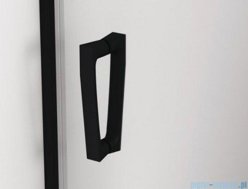 SanSwiss Cadura Black Line drzwi wahadłowe 70cm jednoczęściowe lewe z profilem przyściennym  czarny mat CA1CG0700607