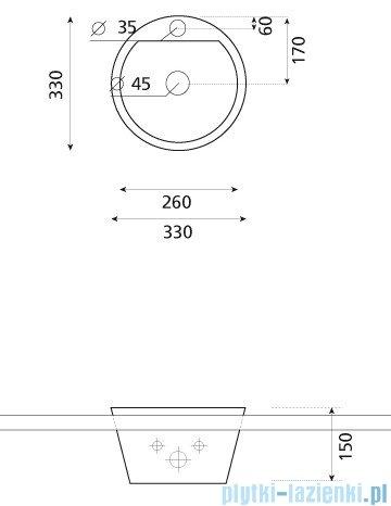 Bathco umywalka blatowa Dublin 33x15 cm 0067