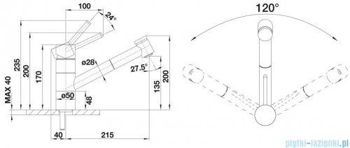 Blanco Tivo-s  bateria wysokociśnieniowa kolor: antracyt/chrom 517610