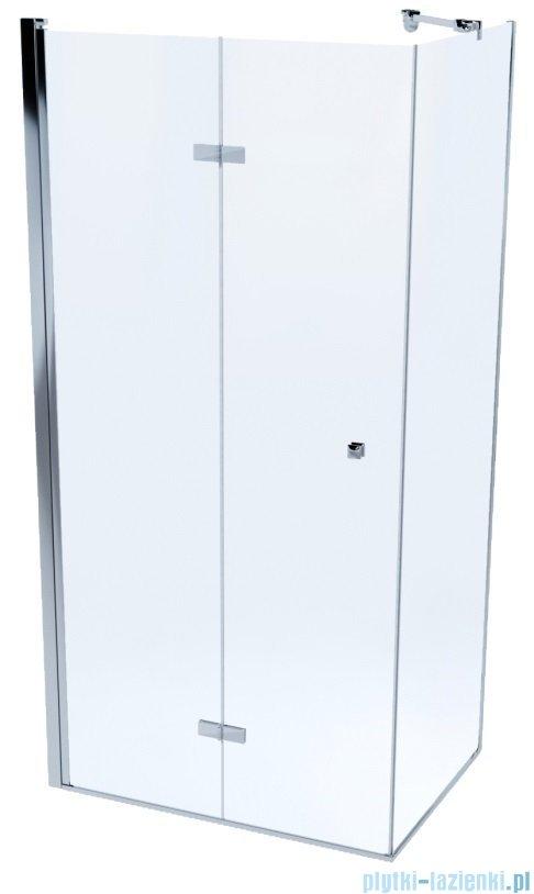 Massi Montero kabina kwadratowa bifold 80x80x190cm przejrzyste MSKP-MN-0028080