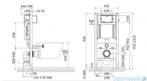 Cersanit Aqua 42 Mech L Box stelaż podtynkowy do WC S97-051