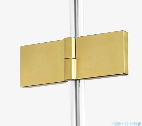New Trendy Avexa Gold drzwi wnękowe 80x200 cm przejrzyste prawa EXK-1715