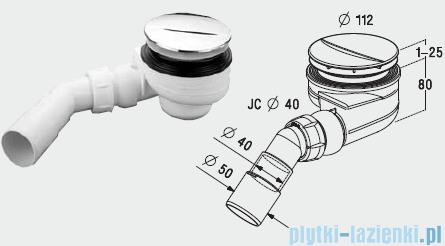 Radaway Turboflow Syfon z odpływem Ǿ 90 chrom 023-TB90P