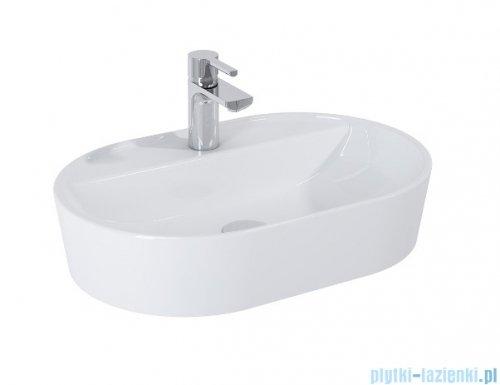 Elita Babette umywalka nablatowa ceramiczna 81x41cm biały połysk 145109