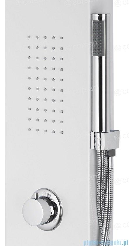 Corsan Alto panel prysznicowy z mieszaczem oraz oświetleniem LED Biały A-017MLEDBIAŁY