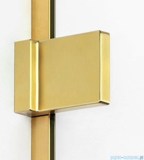 New Trendy Avexa Gold parawan nawannowy z wspornikiem skośnym 100x150 cm przejrzyste EXK-2009