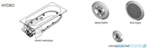 Riho Delta wanna asymetryczna lewa 160x80 z hydromasażem PRO Hydro 6+4+2 BB83P6