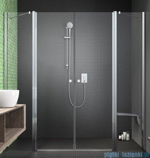 Radaway Eos II Dwd drzwi prysznicowe 160x195 W2 szkło przejrzyste