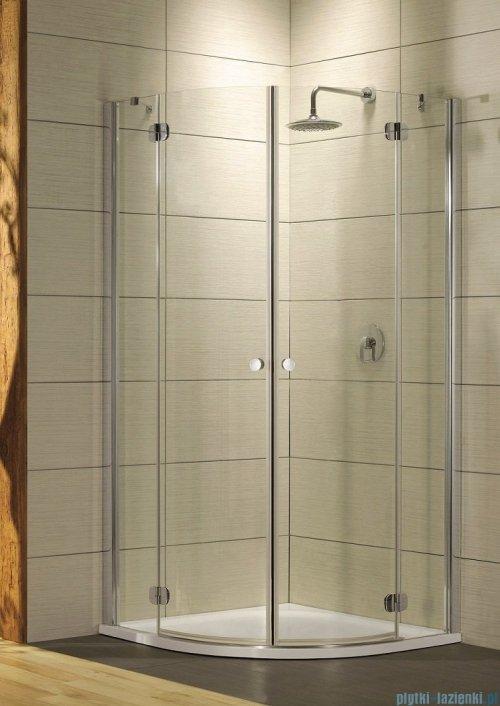 Radaway Torrenta PDD E Kabina prysznicowa 90x80 szkło przejrzyste + Brodzik Siros E Compact prawy + syfon UltraClear