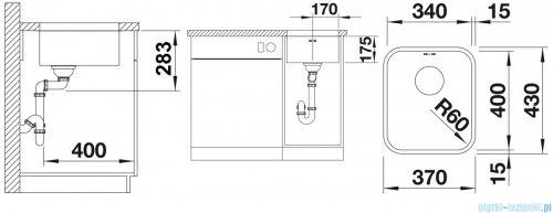 Blanco Supra 340-U komora podwieszana  stal szlachetna szczotkowana z k. aut.  518200