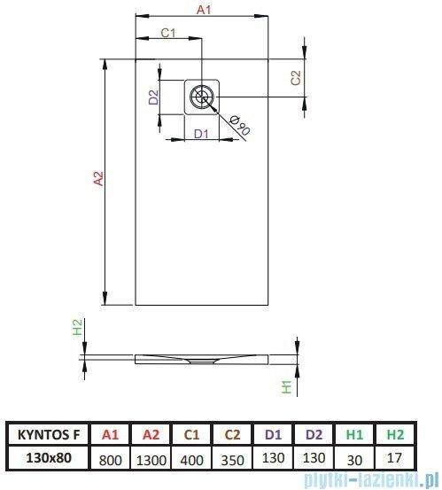 Radaway Kyntos F brodzik 130x80cm biały HKF13080-04