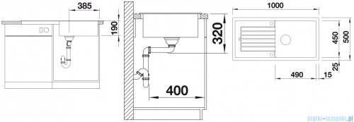 Blanco Zia XL 6 S Zlewozmywak Silgranit PuraDur kolor: kawowy  bez kor. aut. 517577