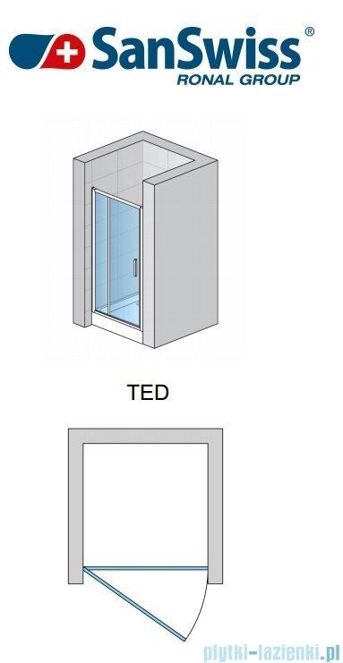 SanSwiss Top-Line TED Drzwi 1-częściowe 140cm profil połysk TED14005007