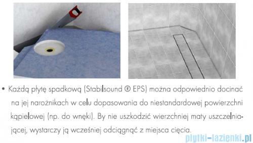 Schedpol brodzik posadzkowy podpłytkowy ruszt Plate 90x90x5cm 10.022/OLPL