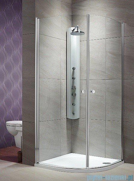 Radaway Eos PDD kabina prysznicowa 100x100 szkło intimato + brodzik Patmos A + syfon