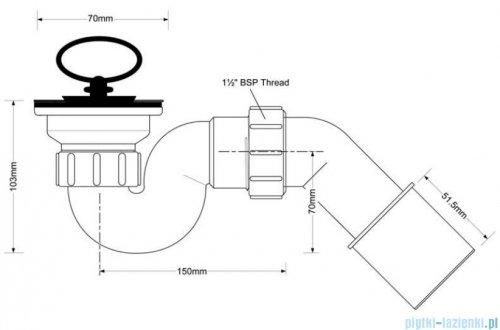 McAlpine Syfon brodzikowy 50'' chrom HC25-POL