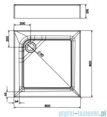 Koło First Brodzik kwadratowy 80cm ze zintegrowaną obudową XBK1680
