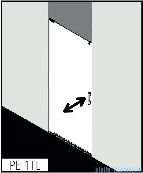 Kermi Pega drzwi wahadłowe 1-skrzydłowe 75 cm lewe przejrzyste PE1TL07520VPK