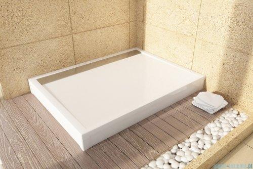 SanSwiss WIA Brodzik konglomeratowy prostokątny 80x100cm biały/połysk WIA801005004