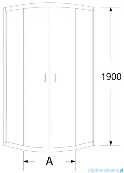 Sea Horse Stylio kabina natryskowa półokrągła 80x80x190 cm przejrzysta BK501T+