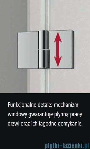 Kermi Osia Kabina prysznicowa wejście narożne, lewa, szkło przezroczyste 80x80 cm OSESL08020VPK/OSESR08020VPK