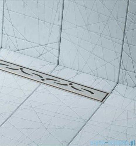 Schedpol brodzik posadzkowy podpłytkowy ruszt Slim Lux Stamp 130+50x80x5cm 10.114/OLSP