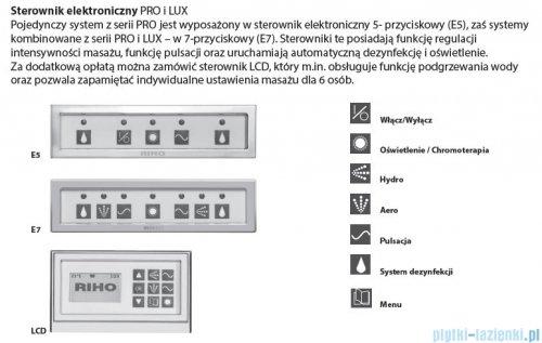 Riho Lugo wanna prostokątna 190x80 z hydromasażem PRO Hydro 8+6+2/Aero 16 BT04P8