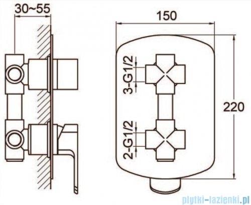 Kohlman Foxal zestaw prysznicowo-wannowy chrom QW211FQ40