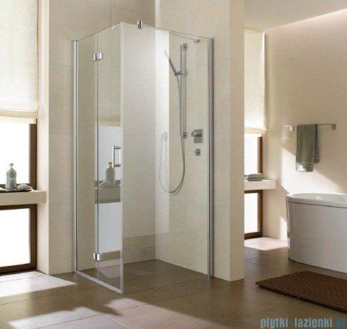 Kermi Diga Ściana boczna, szkło przezroczyste, profile srebrne 100x200cm DITWD10020VAK